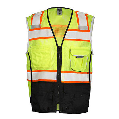 ML Kishigo 1515 Class 2 Black Bottom Safety Vest