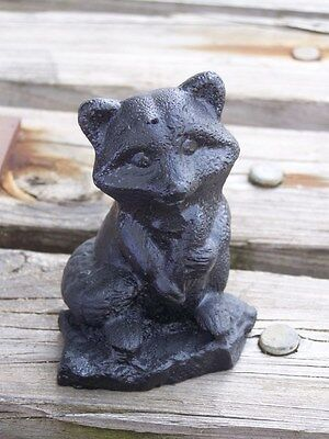 Handcrafted in Kentucky Made From Coal Raccoon Figurine