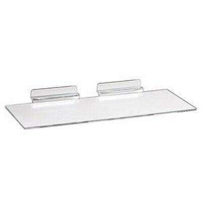 "24 Slatwall Shelves Shelf Shoe 4"" x 10"" Display Flat Styrene Clear Acrylic Slat"