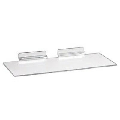 "NEW SLATWALL 10"" x 4""CLEAR ACRYLIC SHOE DISPLAY SHELF 10 pack"