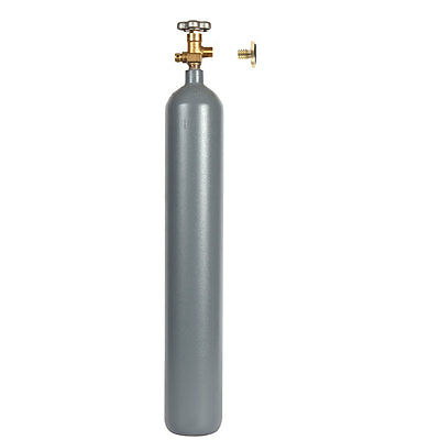 CO2 7 lb Steel Cylinder Reconditioned with Label and Leak Stopper - SHIPS FREE