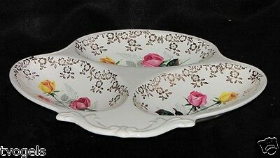 Vintage Lord Nelson England Pottery Porcelain Section Dish