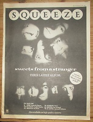 "Squeese ""Sweets From A Stranger"" 1982 Poster Size Advert ( 17 x 13"")"