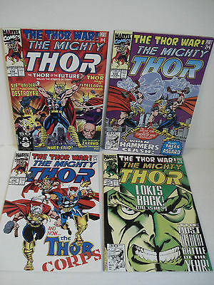 THE MIGHTY THOR MINI SERIES 4  ENGLISH MARVEL COMICS No. 438, 439, 440, 441