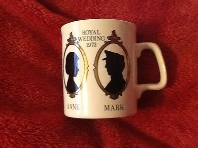 Vintage Collectable Royal Wedding 1973 Anne & Mark Mug Made In England