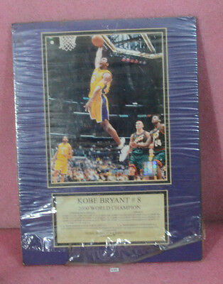 Kobe Bryant #8 2000 World Champion Limited Edition Poster.