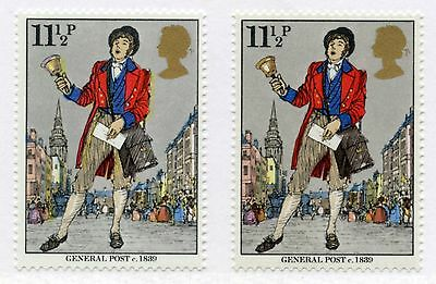 GB 1979 ROWLAND HILL 11 1/2p ERROR VARIETY YELLOW SHIFTED to RIGHT