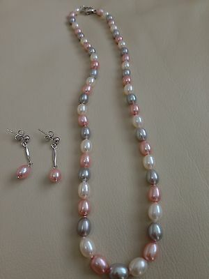 Honora Sterling Silver Baroque Freshwater Cultured Pearl Necklace And Earrings