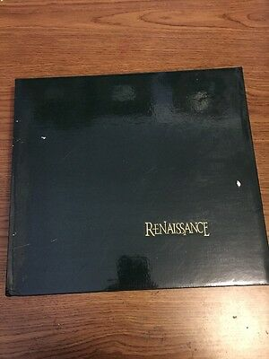 Renaissance Black Leather Library 12x12 photo Album With 15 pages NEW mats