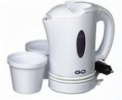 Design-Go Car Kettle 12/24V Dual Voltage Travel And Portable Tea Water Heater