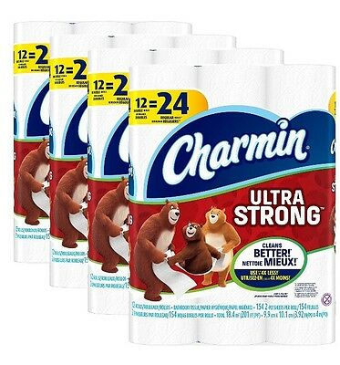 Charmin Ultra Strong Toilet Paper Double Rolls 48 Count Free Shipping