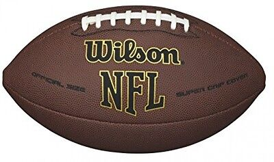 Wilson NFL Super Grip Official American Football Outdoor Ball Game leathercover!