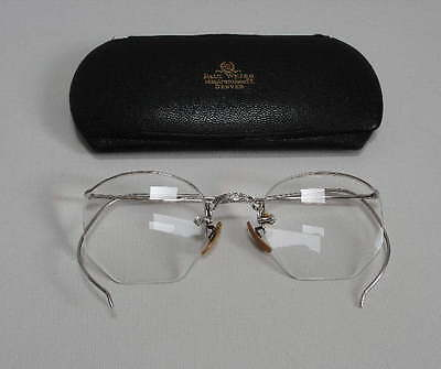Vintage AO American Optical 1/10 12KGF-N White Gold Filled Eyeglasses Frame