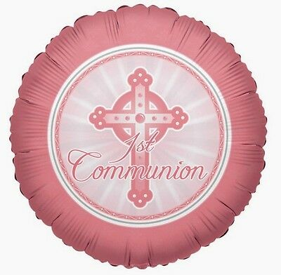Set Of 12  Personalised Pink First Communion  Cake Bags