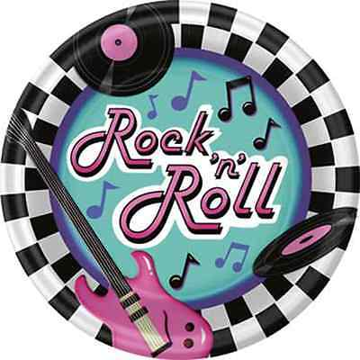 Set Of 12 Rock And Roll Cake Bags
