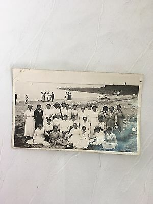 Antique/vintage - Photograph - Beautiful Photo Of A Group Of Women On A Beach