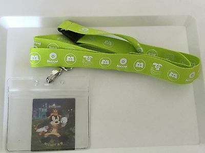 FREE SHIPPING HKDL Pin Trading Pass Holder Lanyard Monster Inc New last one
