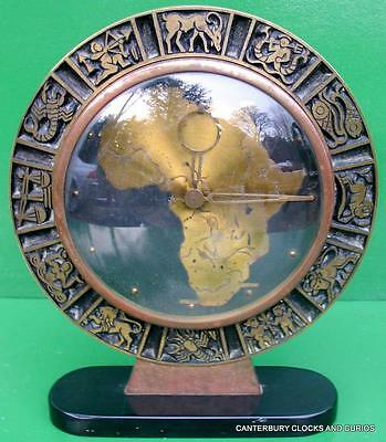 Art-Deco Continentel Africa Zodiac 8 Day Mantle Boudoir Clock Serviced