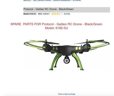 REPLACE PARTS FOR Protocol - Galileo RC Drone -  Model: 6182-5U
