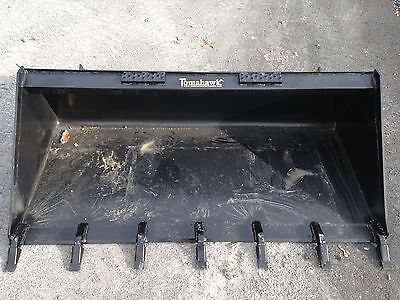 "New 66"" Skid Steer/Tractor 5 1/2' Tooth Bucket - fits Bobcat, Case, etc - Teeth"