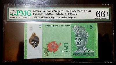 =An= Malaysia Banknote Rm5 Pmg66