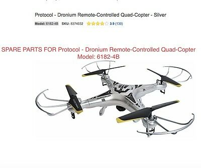 REPLACE PARTS FOR Protocol - Dronium Remote-Controlled Quad-Copter  Model: 6182