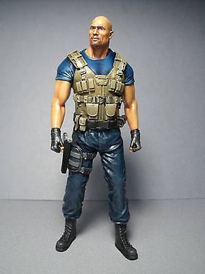 1/18  Fast  And  Furious  Rock  Johnson   Painted  Figure  By  Vroom  For  Ertl
