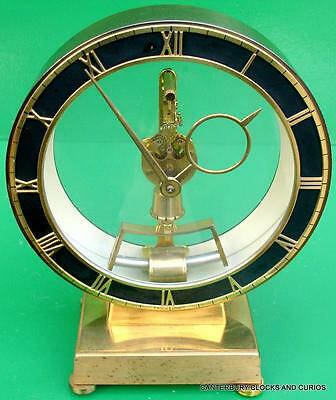 KIENINGER & OBERFELL WEST GERMAN ELECTROMAGNETIC RETRO MANTLE CLOCK 1960s