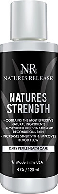 Natures Release Natures Strength 4.0 Oz - Natural Penile Health Cream - Best for