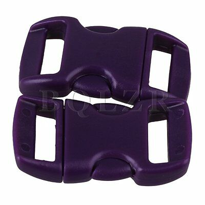 20 x Purple Plastic Arched Contoured Quick Side Release Buckles Paracord 10mm