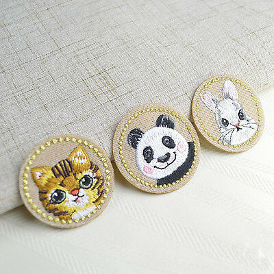 Cute Animal Embroidered Sew Iron On Patches Set Badge Bag Fabric Applique Craft