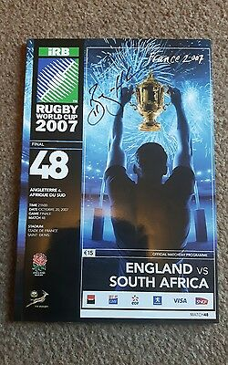 bryan habana genuine autographed 2007 rugby world cup final programme *proof*