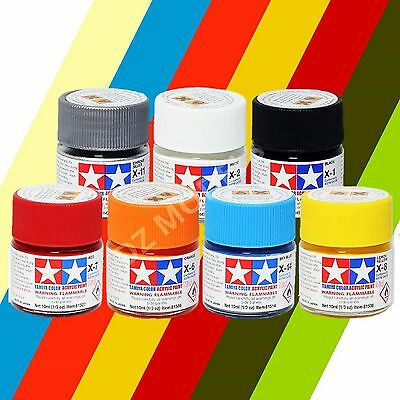 Tamiya Acrylic Paint 10ml X-1 to XF-86 Choose Colours and Quantity - Model paint