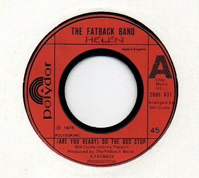 "❤ Do The Bus Stop ❤ Fatback Band ❤  Soul Funk Disco Classic - Vinyl 7"" 1974"