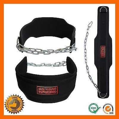 Weight Lifting Belt Gym Pull Up Chain Dipping Body Building Workout Extra Layer