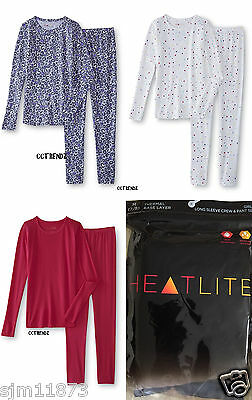 Girls HEATLITE THERMAL UNDERWEAR Base Layer 2 PC  Crew & Pant Set MSRP $30