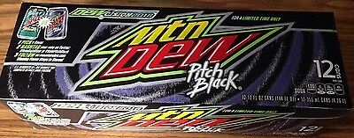 1-12oz 12 Pack Mountain Dew Pitch Black Cans Pk