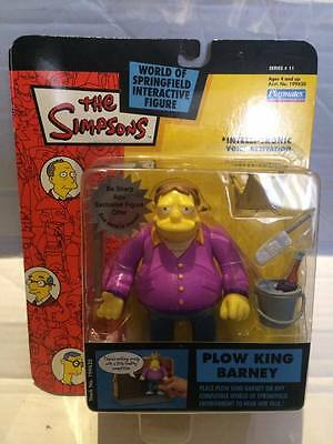 """New Playmates The Simpsons Figure - PLOW KING BARNEY - Be Sharp - 5"""" Interactive"""