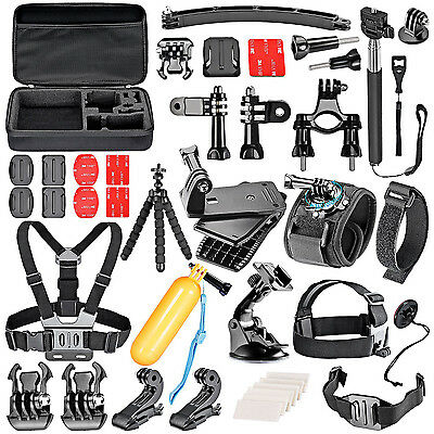 50-In-1 Sport Accessory Kit for GoPro Hero4 Session Hero1 2 3 3+ 4 Sports G4T6