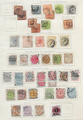 Denmark stamps 1851 Collection of 42 CLASSIC stamps  CAT VALUE $2750