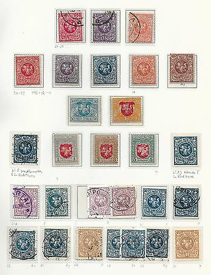 Lithuania stamps 1919 specialised Collection of 28 stamps  HIGH VALUE!