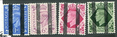 4 Mint Great Britain Stamp with 2 Vertical Black Bars (Lot #8218)