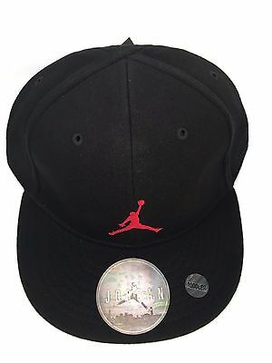 Nike Jordan Air Toddler Cap Hat 7A1540-297 Blk/gym Red Size 2/4T