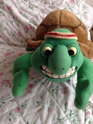 """Rare Collectable 1991 Frank The Tortoise, Creature Comforts Plush Soft Toy, 18"""""""