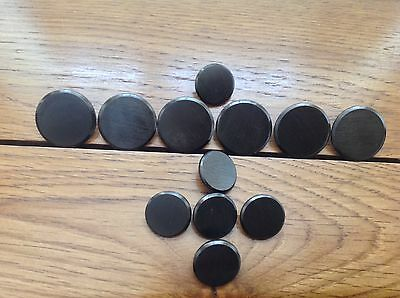 Buttons By Brioni  Polished Gunmetal Grey Brand New Set.