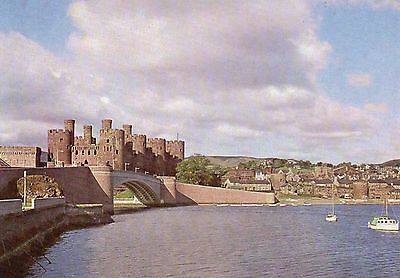 postcard Wales   Conwy Castle  the North  east across the estuary unposted