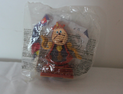 Mcdonalds Happy Meal - Beauty and the Beast Cogsworth Clock Toy 1998 New Packet!