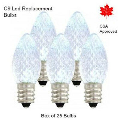 Christmas Lights C9 Led Replacement Bulbs Holiday Commercial Grade 25/box