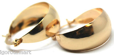 Chunky Gold Plated Round Circle Earring Hoop Hoops Earrings Jewelry