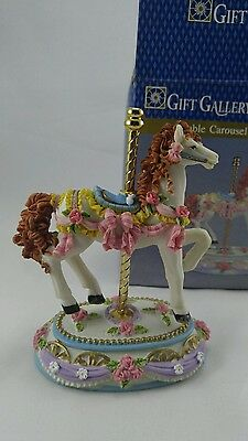 Carousel Horse Porcelain Collectables Gift Gallery Loveable Carousel. (C)
